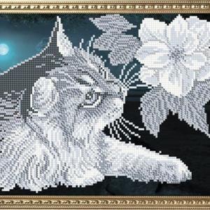 Kit de broderie de perles bricolage, fantaisie, jour et nuit, idée cadeau bricolage, kits de broderie, décoration murale maison, art de la broderie, ensemble de peinture de perles   – Tricot écharpe bébé