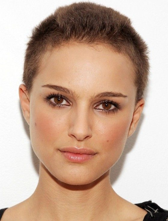 buzzed hair styles natalie portman buzz cut cool buzzcut on 3038