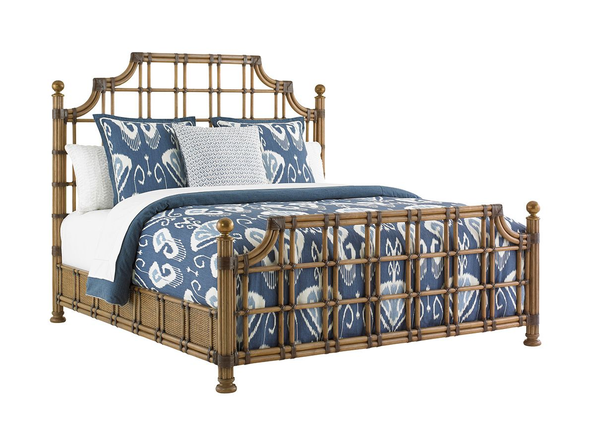 Twin Palms St. Kitts Rattan Bed Lexington Home Brands
