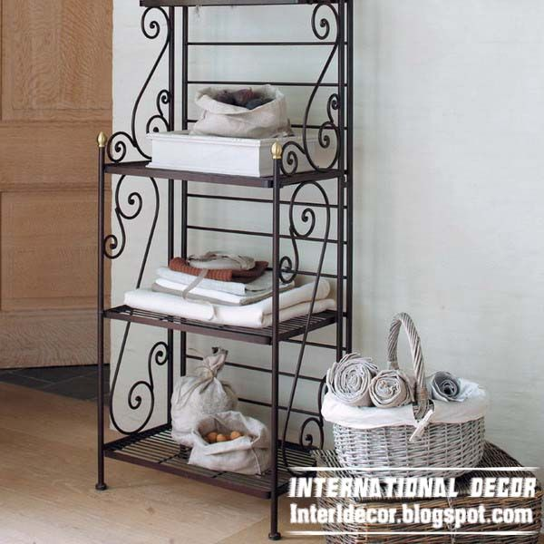 Iron Shelves Wrought Forged Furniture Designs