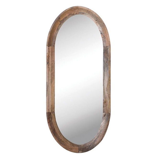 Oval Mango Mirorr In 2020 Oval Wall Mirror Mirror Wall Natural