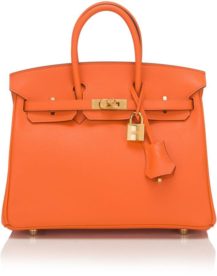 8d8a01af3171 Madison Avenue Couture Hermes 25Cm Orange H Swift Leather Birkin ...