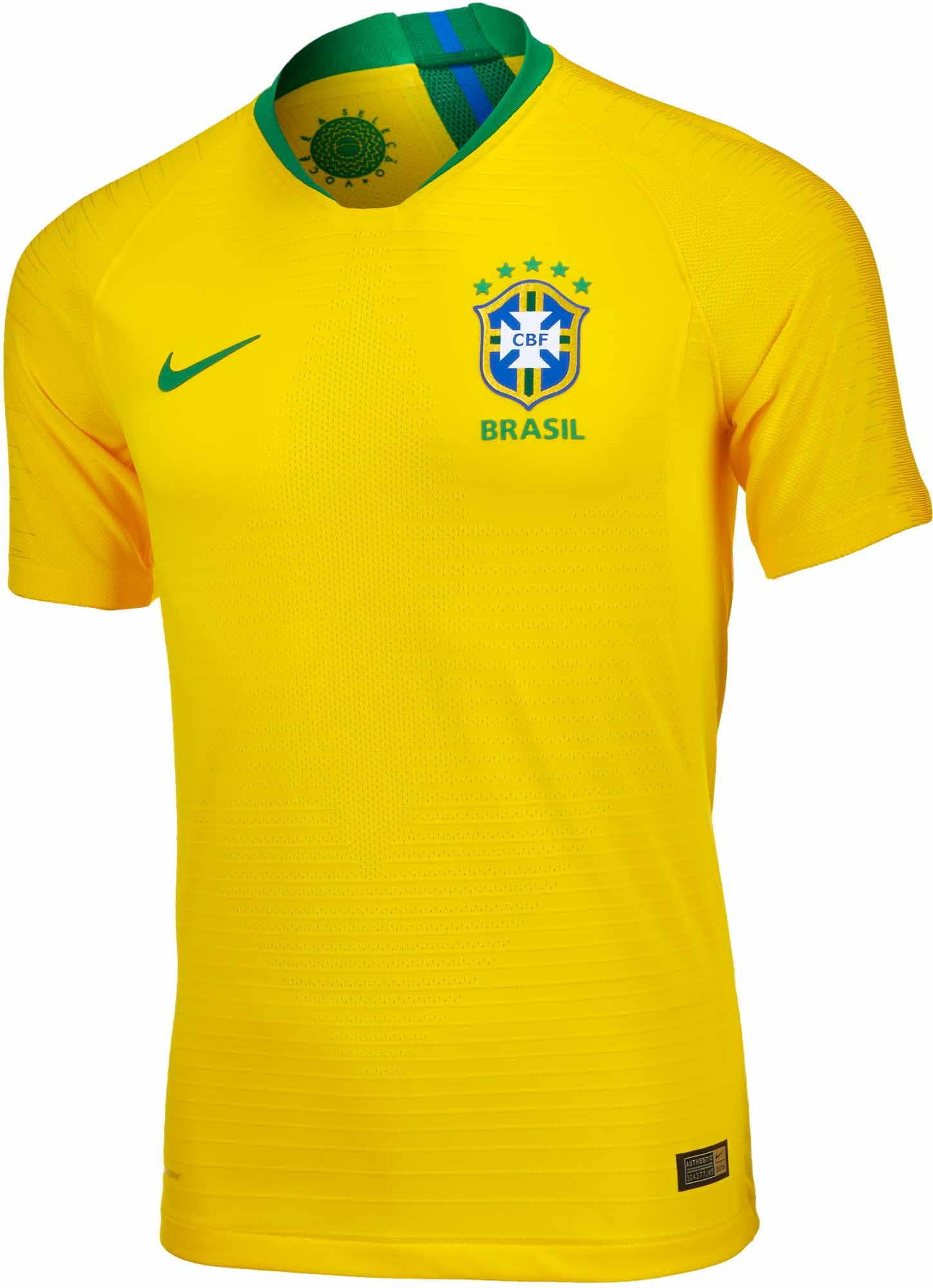 23dc9fa3624 Buy the 2018 19 Nike Brazil Home Match Jersey from soccerpro.com right now!