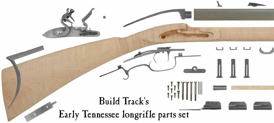 Build Track's Early Tennessee longrifle kit, flintlock, traditional