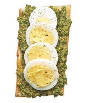 Pesto and Egg Open-Face Sandwich