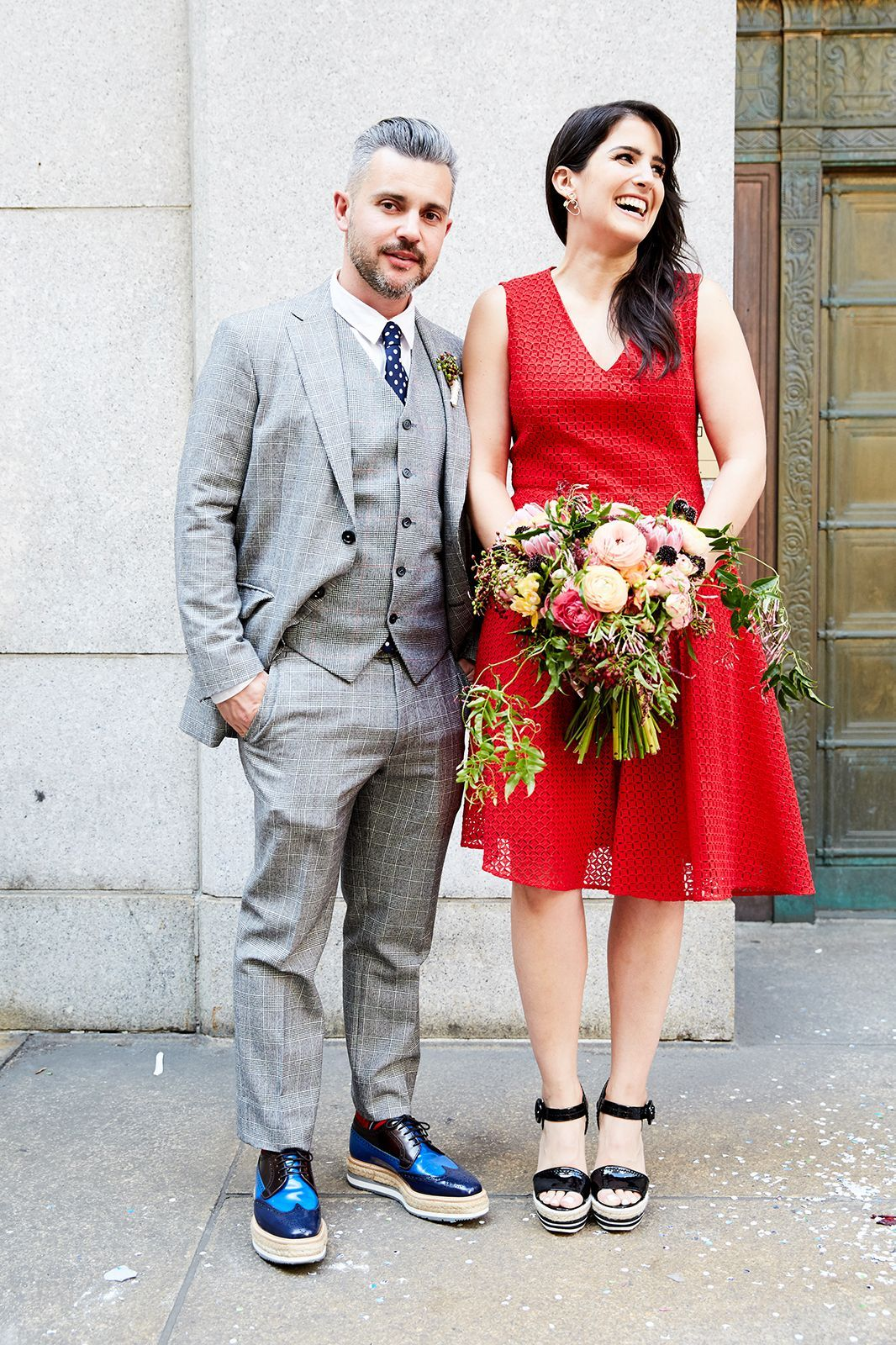 Courthouse Wedding Dresses in Red