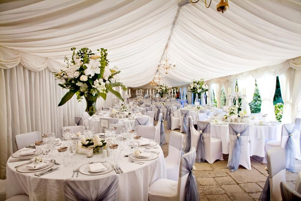 Love This White Silver And Green Wedding Theme At Birtsmorton Court