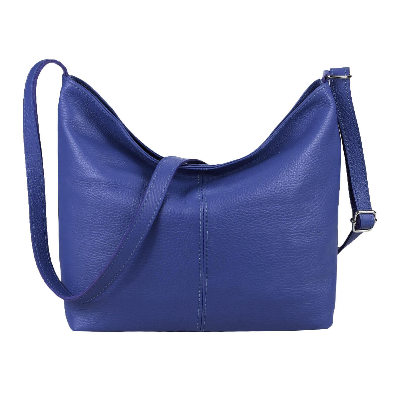 5c98afa9e47d2 MADE in ITALY Damen LEDER TASCHE Handtasche Umhängetasche Shopper Damentasche  Schultertasche Cross-Over Ledertasche Blau