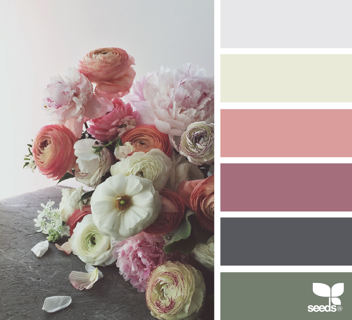 Flora hues color pinterest farben wandfarbe und - Farbmuster wandfarbe ...