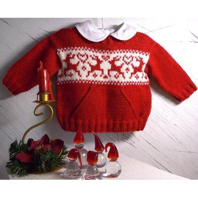 Christmas sweater with pocket and reindeers | Fair isle chart ...