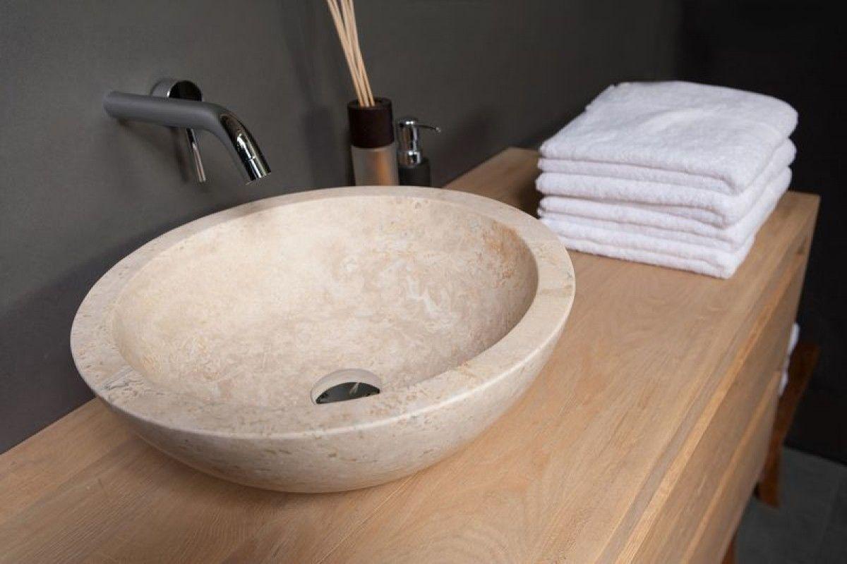 Roma waskom chinees travertin grunerielaan badkamer