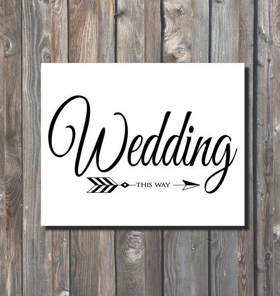 PRINTABLE Wedding This Way Sign-DIY Wedding Direction Sign-PRINTABLE ...