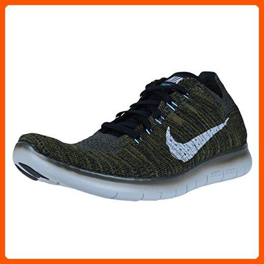 158b67b51e3c Nike Men s Free RN Flyknit Cargo Khaki Black-Blue Glow-Bright Mango ...