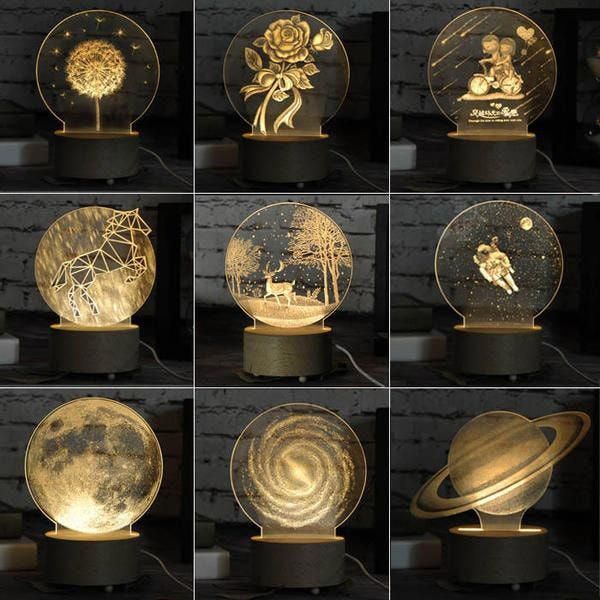 3d Led Night Light From Apollo Box 3d Led Night Light Led Night Light 3d Led Lamp