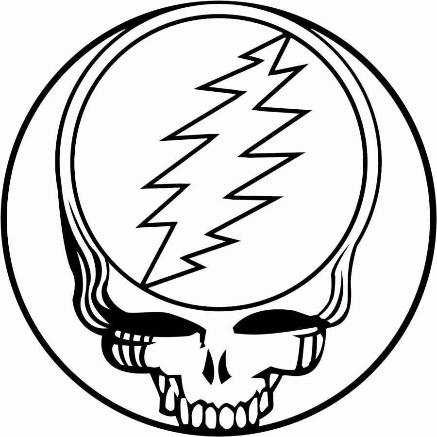 Grateful Dead Jerry Garcia Dead Heads Steal Your Face Logo S18 In