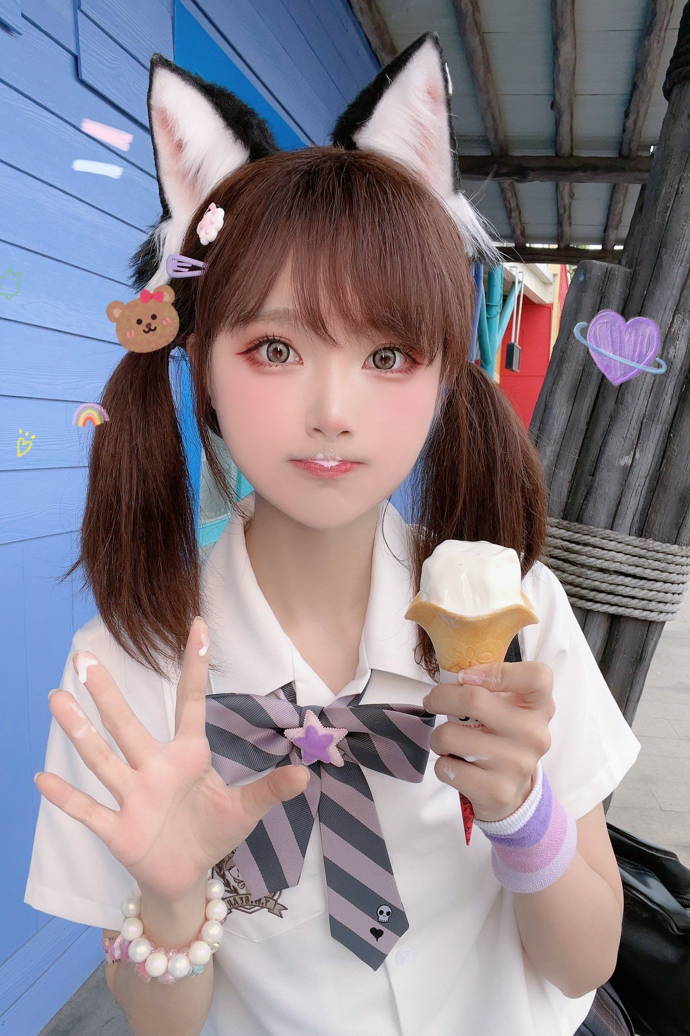 The saga of michael myers and laurie strode continues in the next thrilling chapter of the halloween series. Do You Want To Eat Ice Cream? SeeU Cosplay in 2021 | Cute kawaii girl, Cute japanese girl, Cosplay