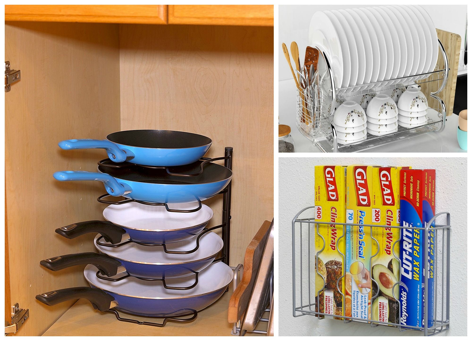 8 Things From Amazon That Ll Organize Your Kitchen For Under 30 Cabinets Organization Kitchen Cabinet Organization Cabinet Organization