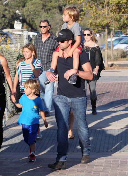 Patrick Dempsey with his twin boys Darby & Sullivan born 2007