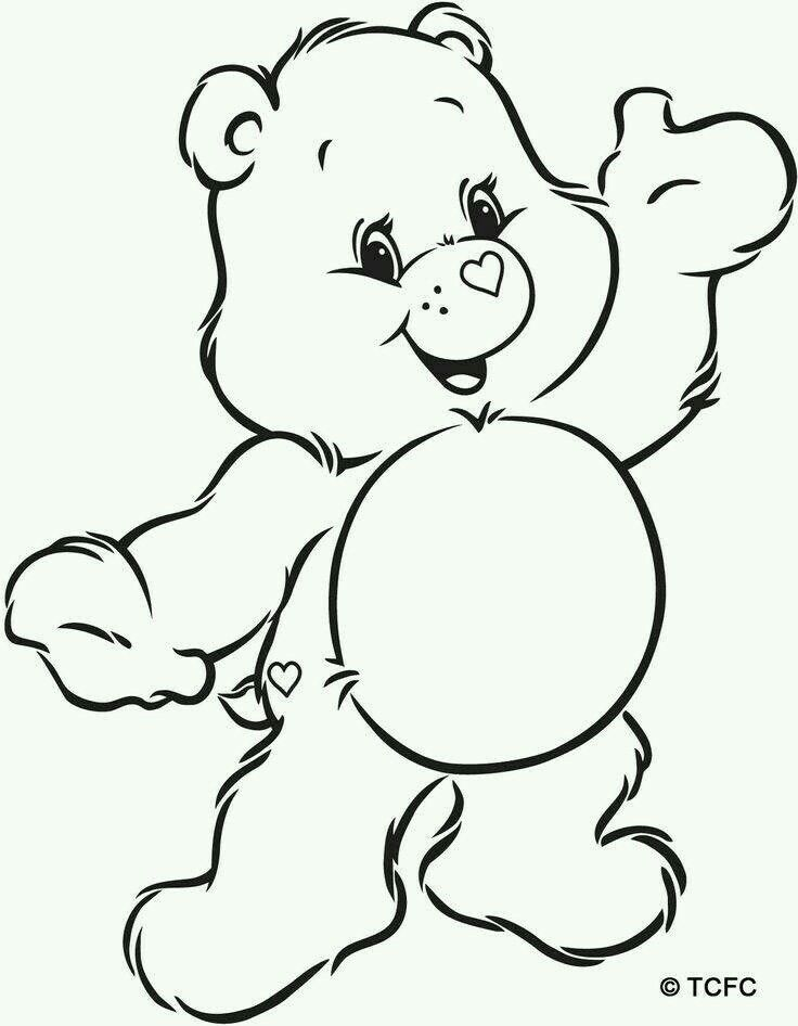 Care Bear Outline Bear Coloring Pages Halloween Coloring Pages Coloring Books