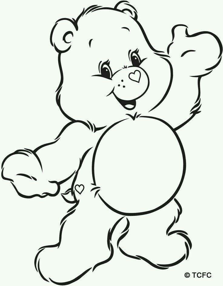 Care bear outline  Birthdays   Pinterest