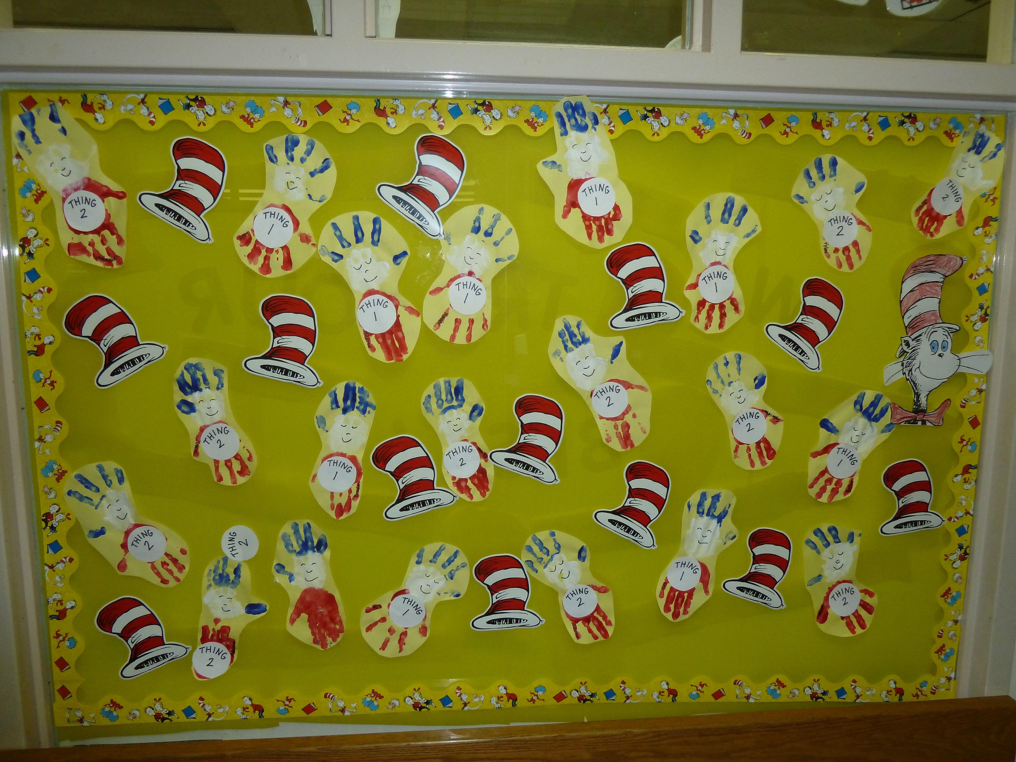 Our Pre K Bulletin Board For Dr Seuss Birthday