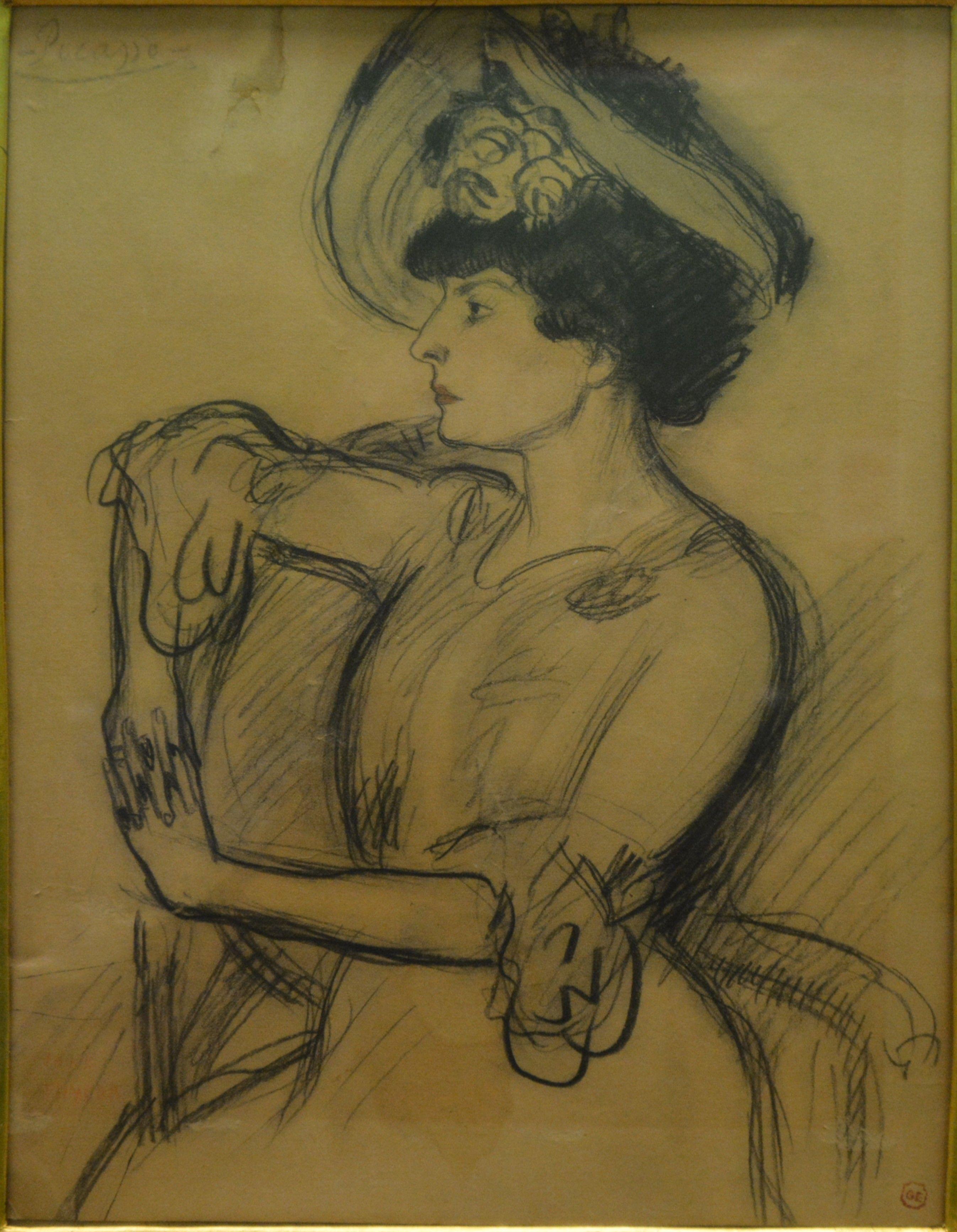 1905 Portrait De Jane Thylda Fondation Bemberg Toulouse 27 Mai 2017 Dessin