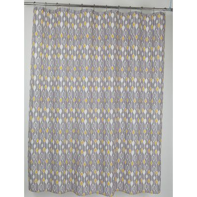Moda At Home Graystone Fabric Shower Curtain