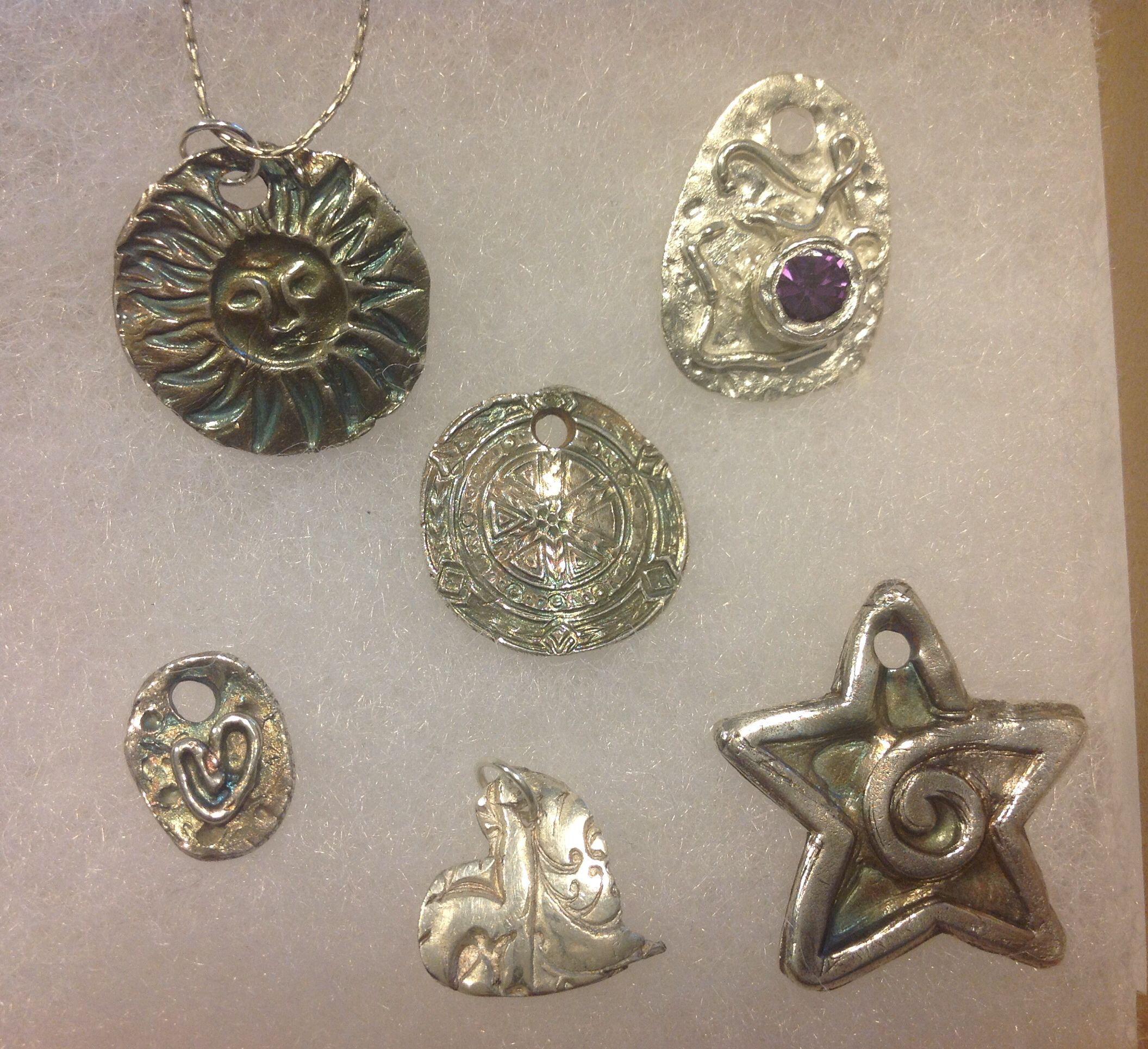 precious metal clay.  My first few pieces