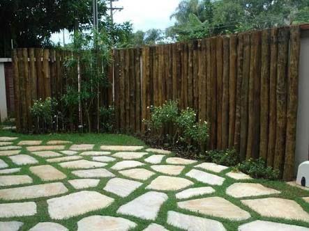 Resultado de imagem para cerca madeira rustica   entradas a patios ...