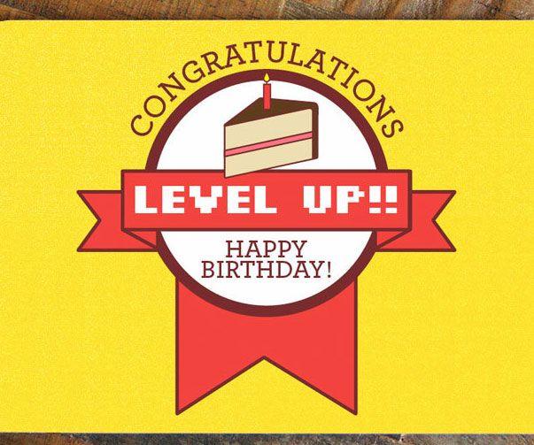 Level Up Gamer Birthday Card