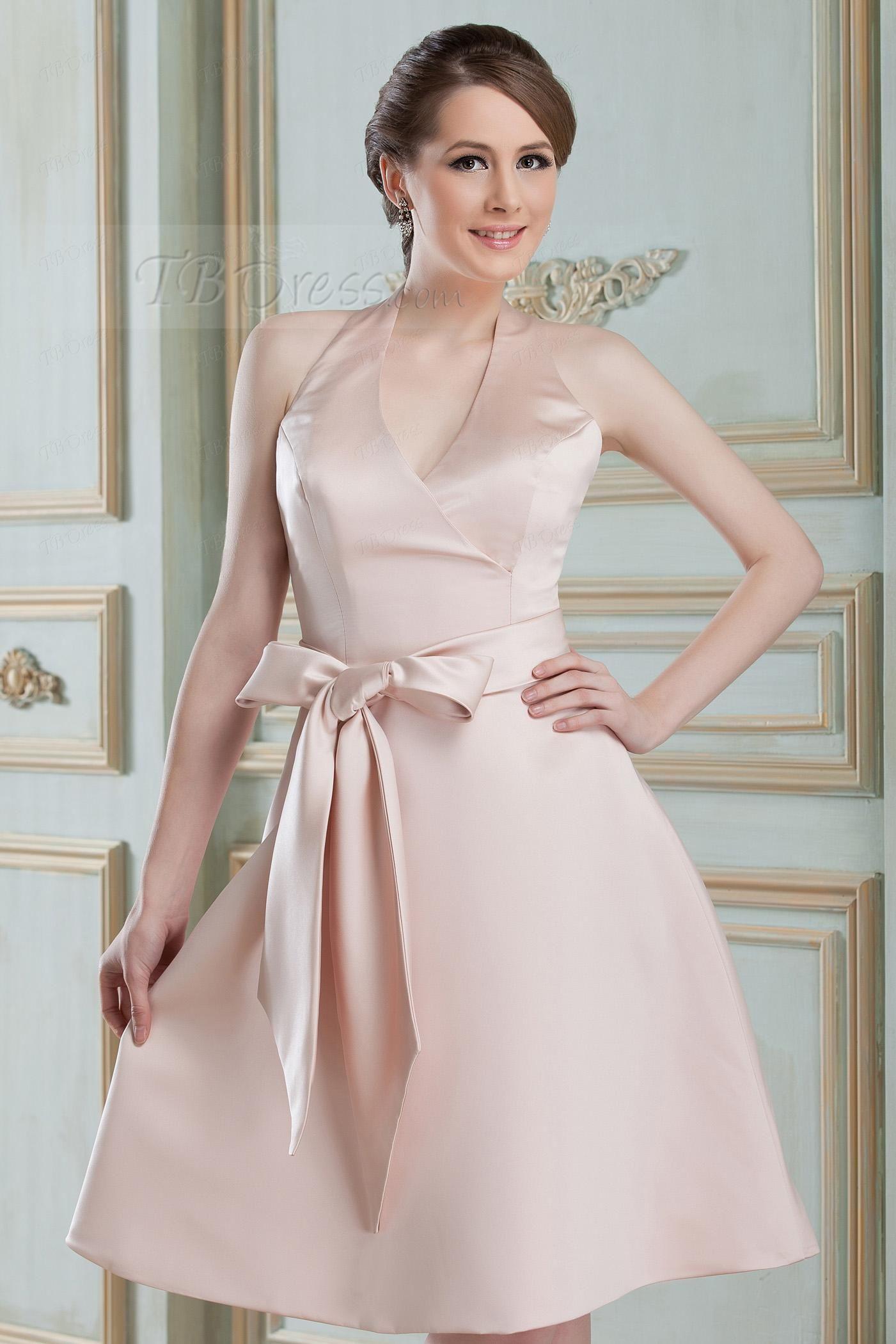 Knee Length V Neck Nadya S Bridesmaid Dress Inexpensive Bridesmaid Dresses Dresses Latest Bridesmaid Dresses [ 2100 x 1401 Pixel ]