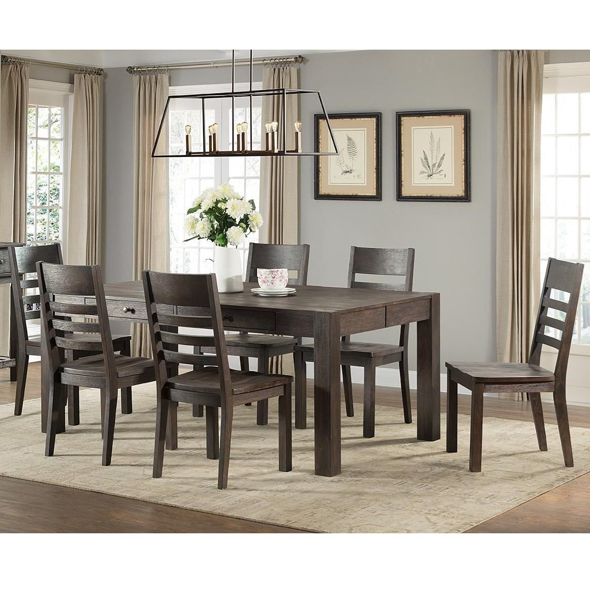 Salem 7 Piece Parsons Style Table And Chair Set By Vfm Signature