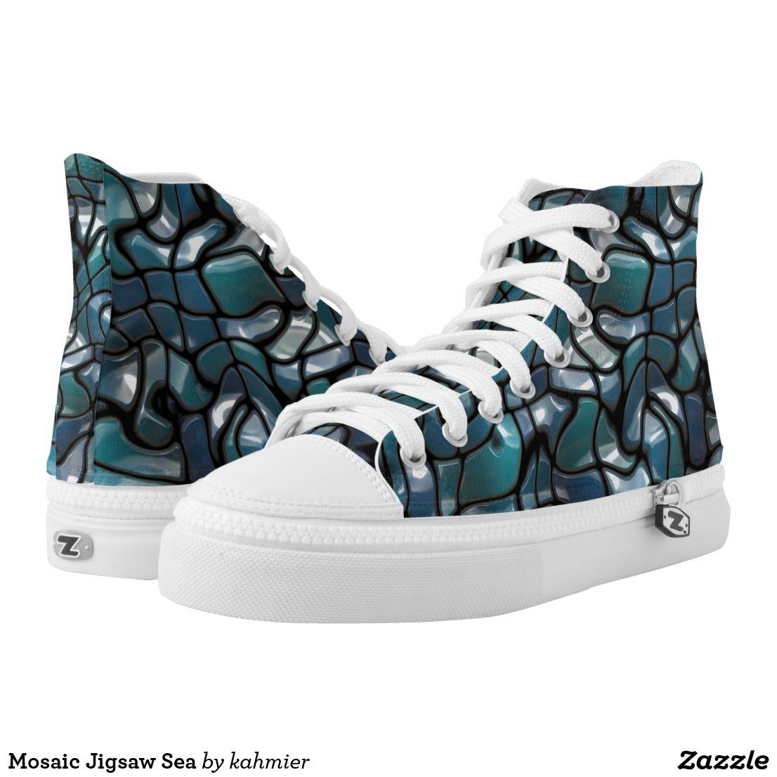 Mosaic jigsaw sea hightop sneakers high