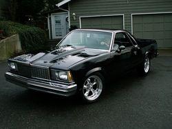 Black With Cragar Rims El Camino Hot Rods Cars Car Chevrolet