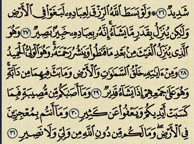 شرح وتفسير سورة الشورى Surah Ash Shura من الآية 26 إلى الآية 44 Arabic Calligraphy Calligraphy
