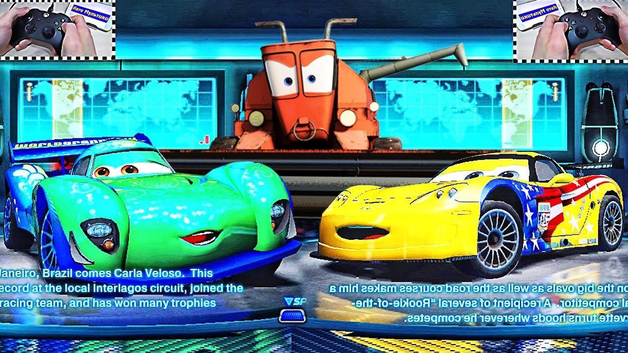 Cars 2 Carla Veloso vs Jeff Gorvette Xbox One S + Race