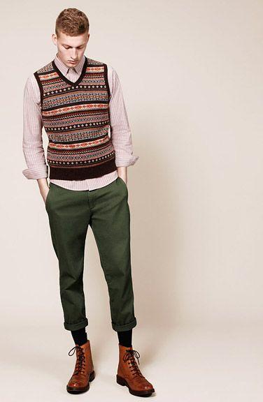 Fair isle sweater vest (via UNI QLO) | Cardigans For Men | Pinterest