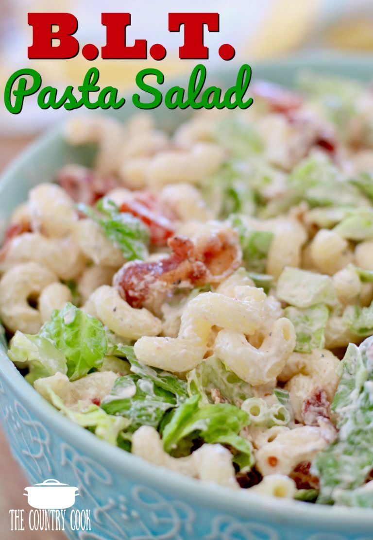 Best Ever Blt Macaroni Salad The Country Cook Side Dishes Recipe Blt Pasta Salad Recipes Blt Pasta Blt Pasta Salads