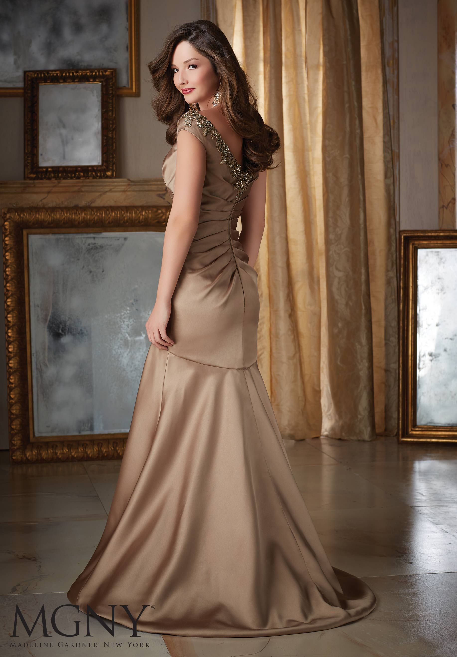 Jeweled beading on larissa satin mother of the bride dress jeweled beading on larissa satin mother of the bride dress designed by madeline gardner colors ombrellifo Gallery