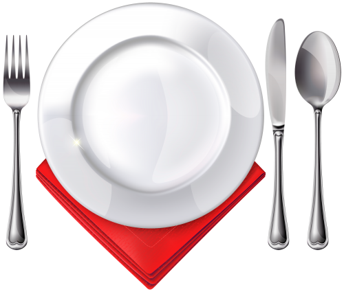 26++ Plate knife and fork clipart ideas