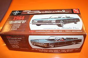 amt 1964 lincoln continental convertible model car kit built w extra parts inc lincoln. Black Bedroom Furniture Sets. Home Design Ideas