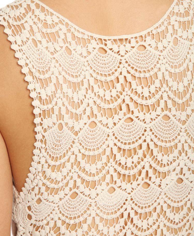 $16.50   Crochet Back Maxi Dress   FOREVER21 - 2011407898