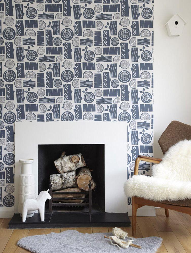 Logpile wallpaper in woodsmoke (с изображениями)