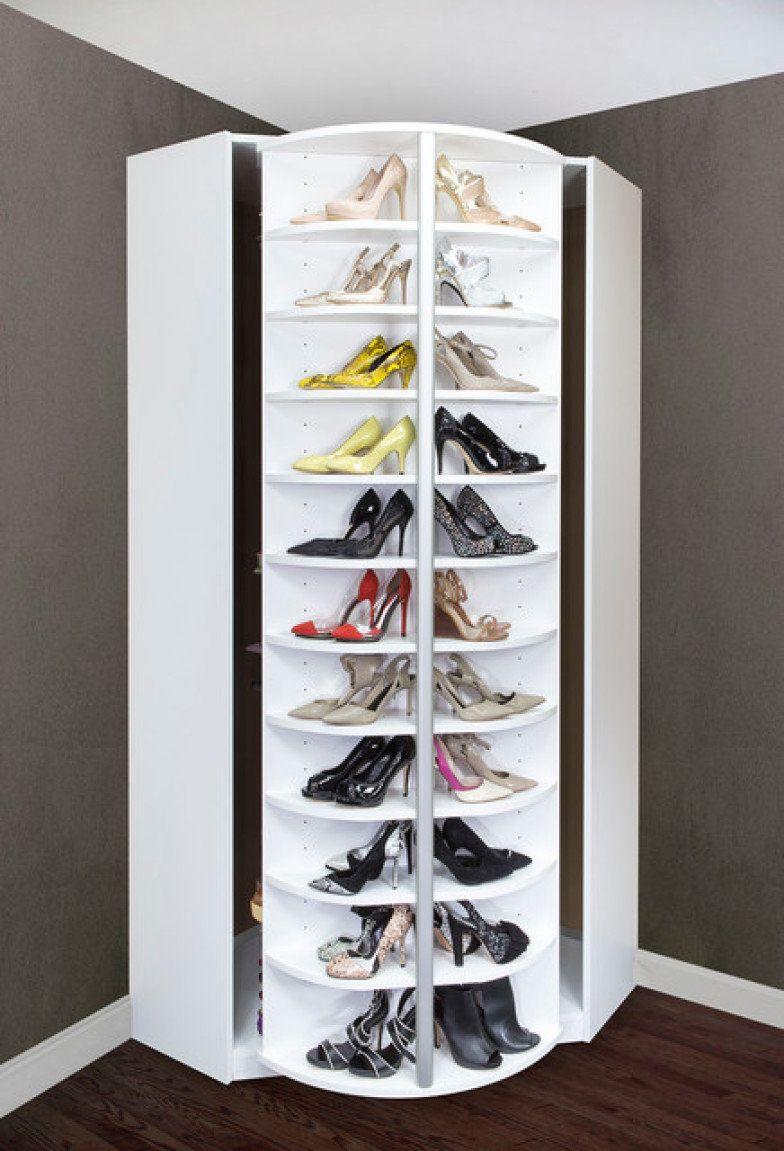 17 jeitos incr veis de organizar e expor os seus sapatos for Organizadores para closet