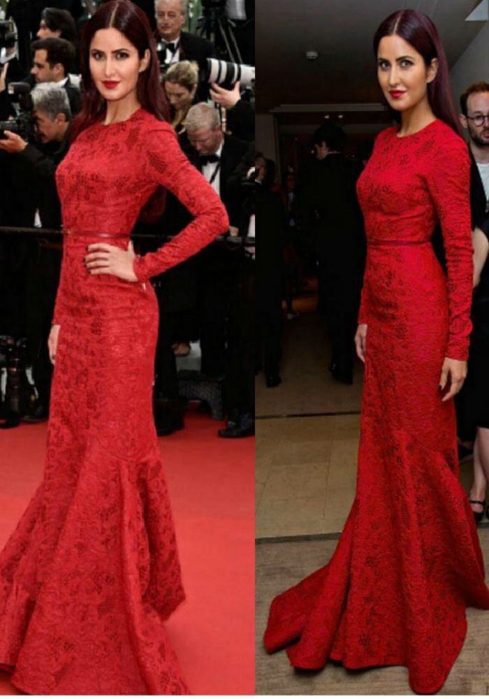 Cannes 2015: Katrina Kaif sizzles in red gown on second outing ...