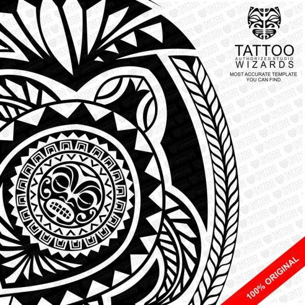Samoan Turtle Shield Vector Tattoo Template Stencil - Tattoo - tattoo template