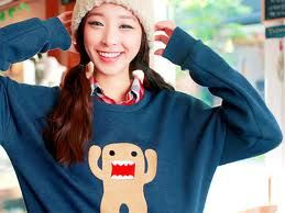 collar tee with sweater ad beanie! <3