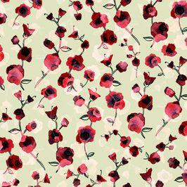 Watercolour Hollyhocks Allover | P&CT bloom | Watercolor ...