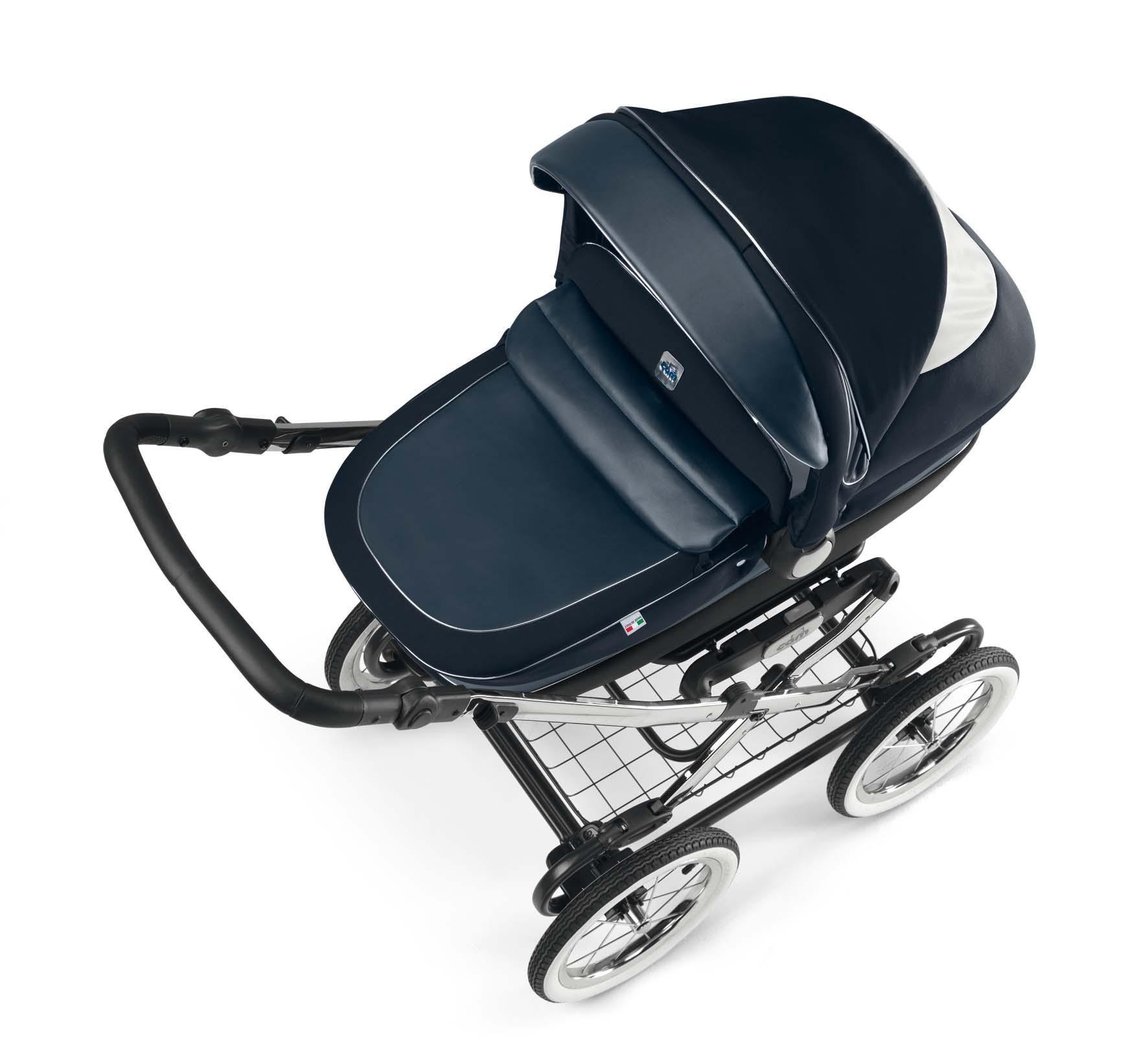Cam Kinderwagen Linea Classy Tris blue by CAMSPA Italy für Baby und Kind Retro…
