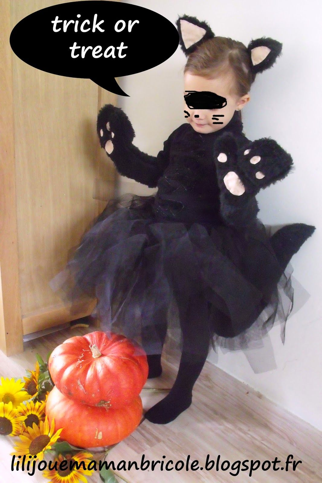 Quatang Gallery- Lili Joue Maman Bricole Tuto Costume Chat Noir Fille Pour Halloween Costume Chat Costume Chat Noir Et Deguisement Chat